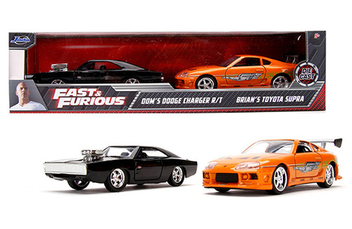 Model Car - 1:32 F&F 7 Dom's Charger & Brian's Supra Twin Pack