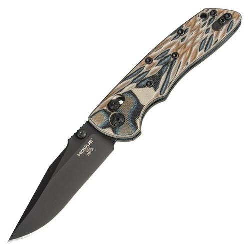 """Hogue Knives Deka Manual Folder [Dark Earth] G-10 (3.25"""" Stonewash CPM 20CV) 24277"""