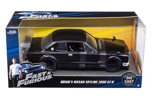 Model Car - 1:24 F&F 2000 Nissan Skyline GT-R34 Brian's Black
