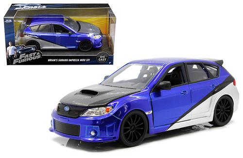 Model Car - 1:24 F&F Subaru Impreza WRX STI Brian's Blue