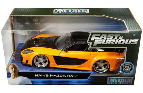 Model Car - 1:24 F&F Mazda RX-7 Han's Orange