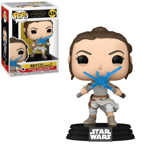 """Funko POP - Rey with 2 Light Sabers """"Star Wars: The Rise of Skywalker"""" [434]"""