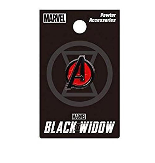 Pin - Black Widow Avengers Logo (Color)