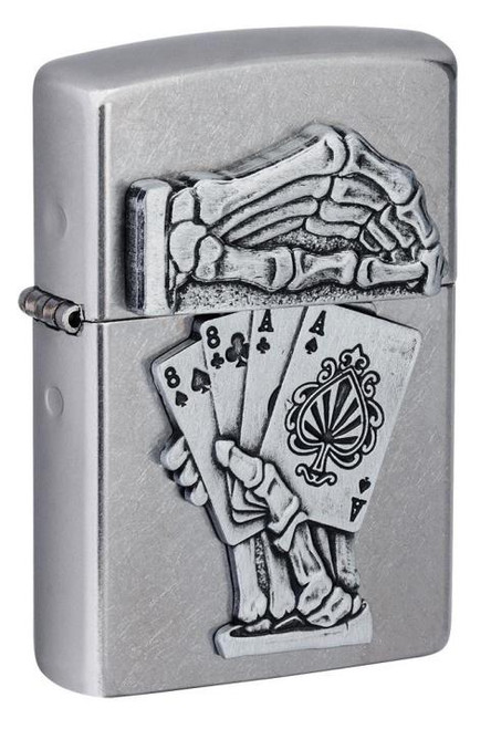 Dead Mans Hand Emblem Design Zippo