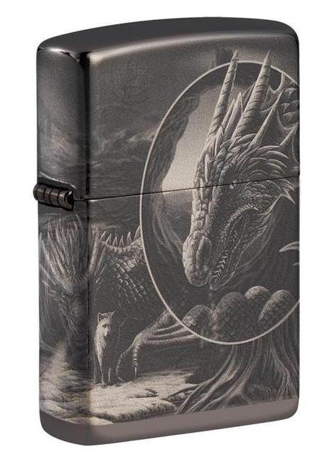 "Dragon Mythological 360 (Photo Image) ""Lisa Parker"" Desing Zippo"