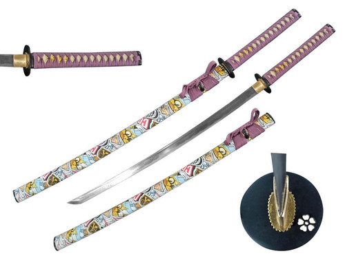 Graffiti Graphic Scabbard Handmade Samurai Sword (1045 Carbon Steel)