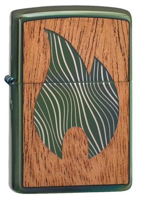 "Woodchuck Emblem Flame ""Chameleon"" Zippo"