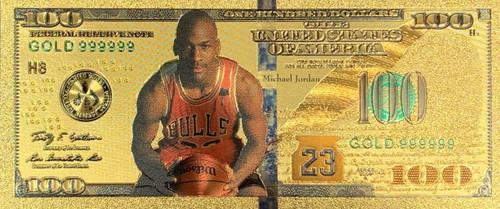 NBA Michael Jordan (Holding Ball) Souvenir Coin Banknote