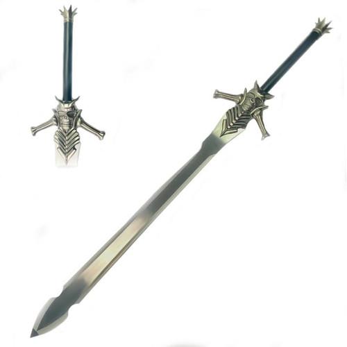 Devil May Cry Sword Silver (Metal) Skull Black Handle