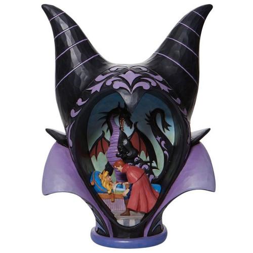"Disney - Maleficent Headdress Scene True Love's Kiss ""Sleeping Beauty"" (Jim Shore) Statue"