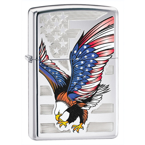 Eagle with Flag Wings Zippo