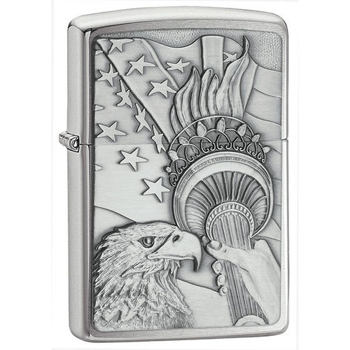 Eagle with Liberty Torch Zippo