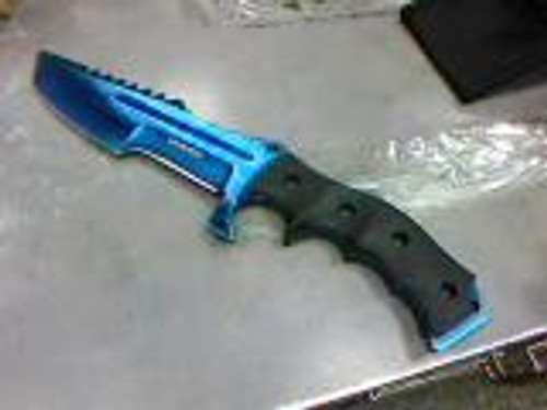 """Wartech (BLUE) Fixed Blade with Grip 11"""""""