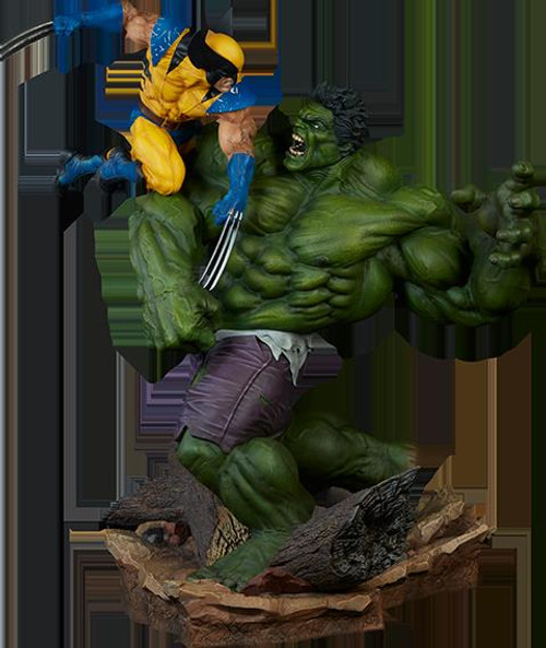 Hulk and Wolverine Maquette Format Marvel Statue