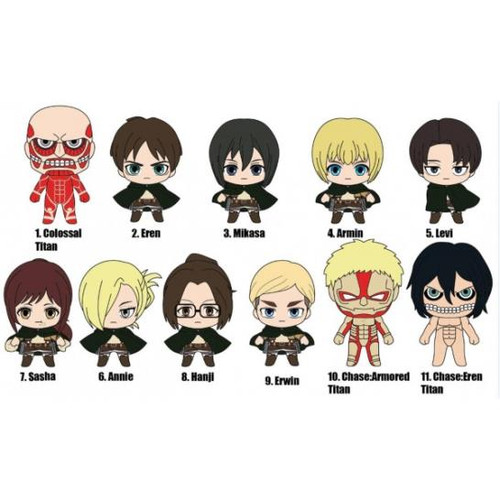 Attack on Titan Anime 3D Foam Bag Clip Random Blind Bag