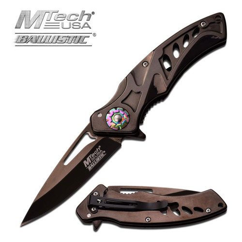 Mtech Ballistic Black Ti Coated AO Pocket Knife