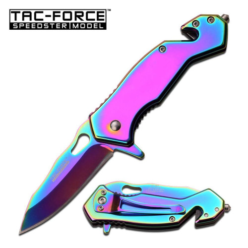 Rainbow Rescue Drop Point AO Pocket Knife (Medium)
