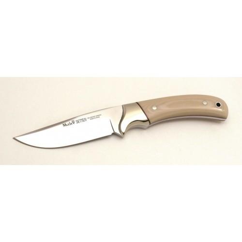 """Muela Setter Fixed Blade Knife Beige Micarta [4.33"""" Plain X50CrMoV15] Bowie SETTER-11B"""