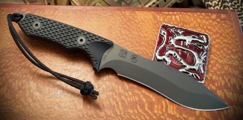 "Spartan Knives Ronin Shinto Fixed Blade Knife Black G-10 [5.625"" Black S35VN] Drop Point SB47BKBKNLBK"