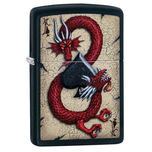 Dragon With Black Spade Zippo
