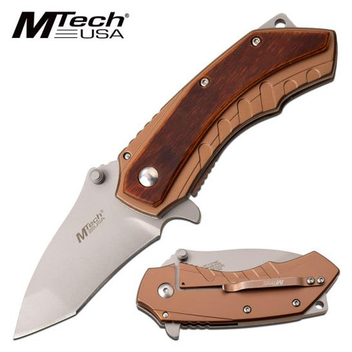 Mtech Steel Pakkawood Handle AO Pocket Knife