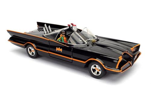 Model Car - 1:24 Batman Classic Tv Series (1966) - Batmobile & Batman (Robin In Car)