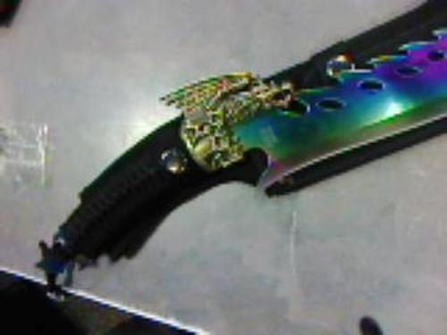 Fixed Blade Gold Dragon (RAINBOW)