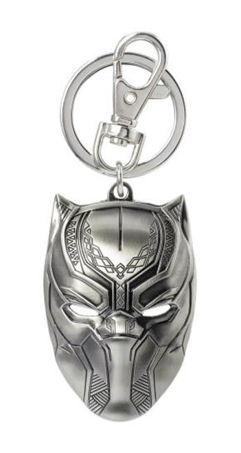 Pewter Key Chain - Black Panther Mask