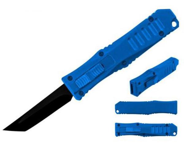 Mini OTF Pocket Knife (BLUE/TANTO)