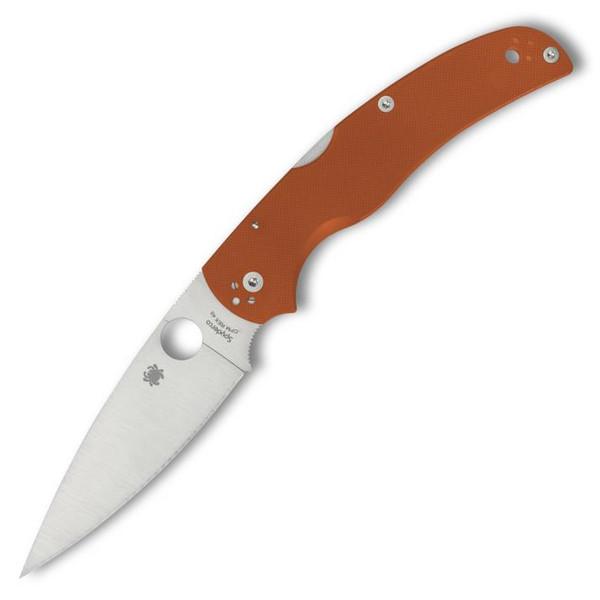 "Spyderco Native Chief Folding Knife Lockback Orange G-10 [4.08"" Satin REX 45] C244GPBORE"