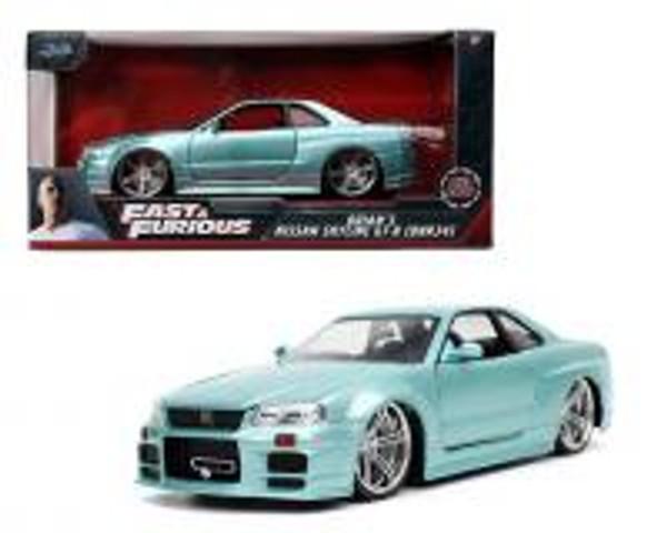 Model Car - 1:24 F&F 2002 Nissan Skyline GT-R34 Brian's Blue