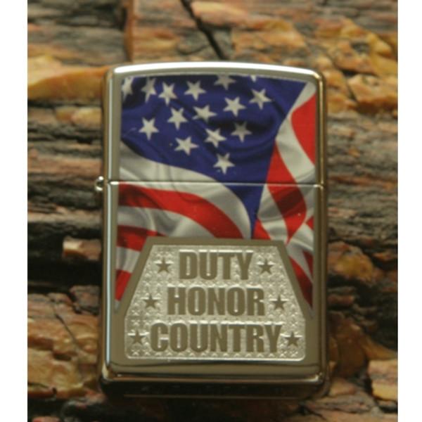 Duty Honor Country Flag Hi Polish Zippo