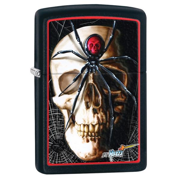 Skull Black Widow Zippo