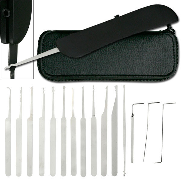 Lock Pick Set with Leather Pouch