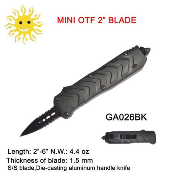 """OTF Pocket Knife Heavy (Black) 2.0"""""""