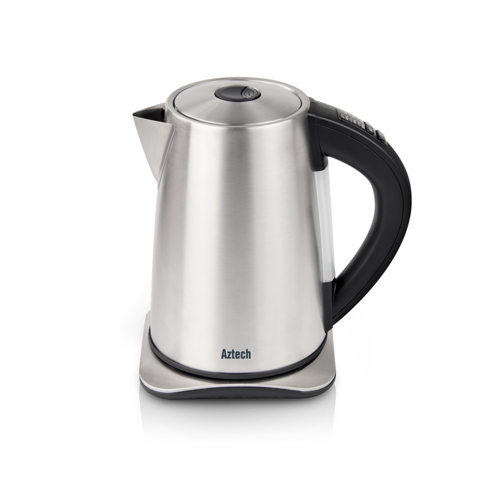 Aztech Silvertone Temperature Controlled Electric Kettle (AEK6630)