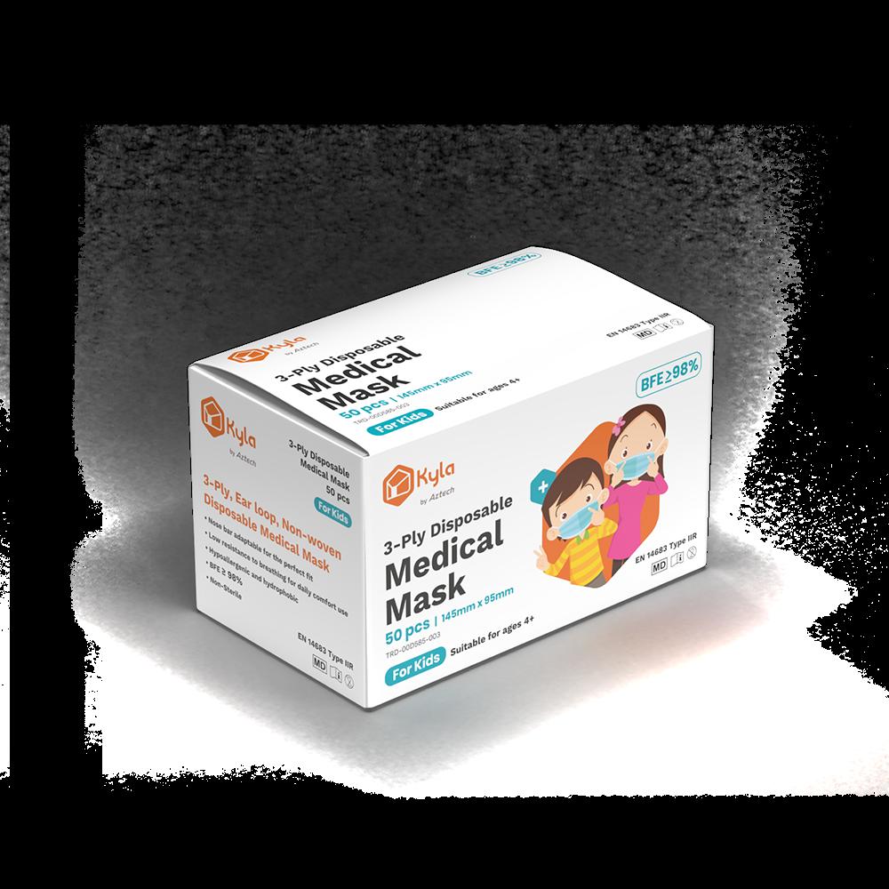 Kyla 3-Ply Disposable Medical Mask for Kids (50pcs per box)