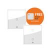 Duo Smart Light Switch Bundle (Smart Light Switch Any Gang x2 + Free Smart Hub)