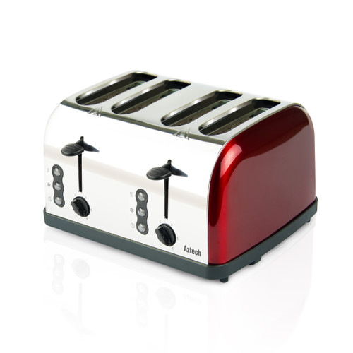 Aztech Burgundy Series Bread Toaster (ABT3640)