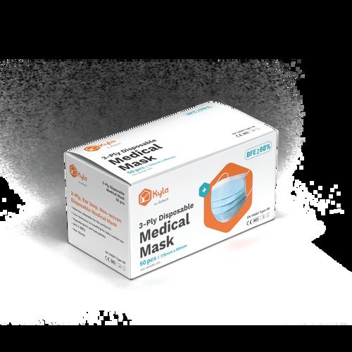 Kyla 3-Ply Disposable Medical Mask for Adult (50pcs per box)