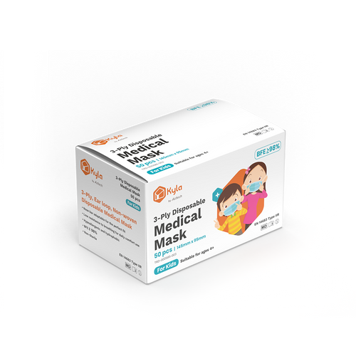 Kyla 3-Ply Disposable Medical Mask for Kids (50pcs per box)