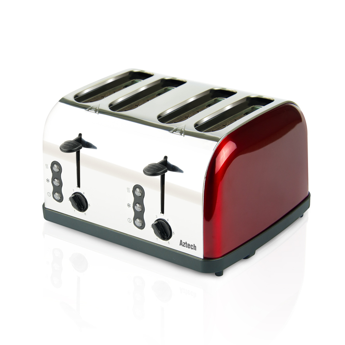 Aztech Burgundy Series Bread Toaster (ABT3640)