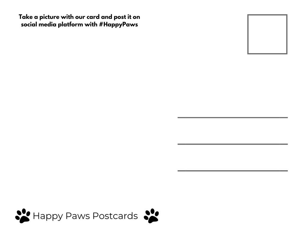 Happy Paws Post Card