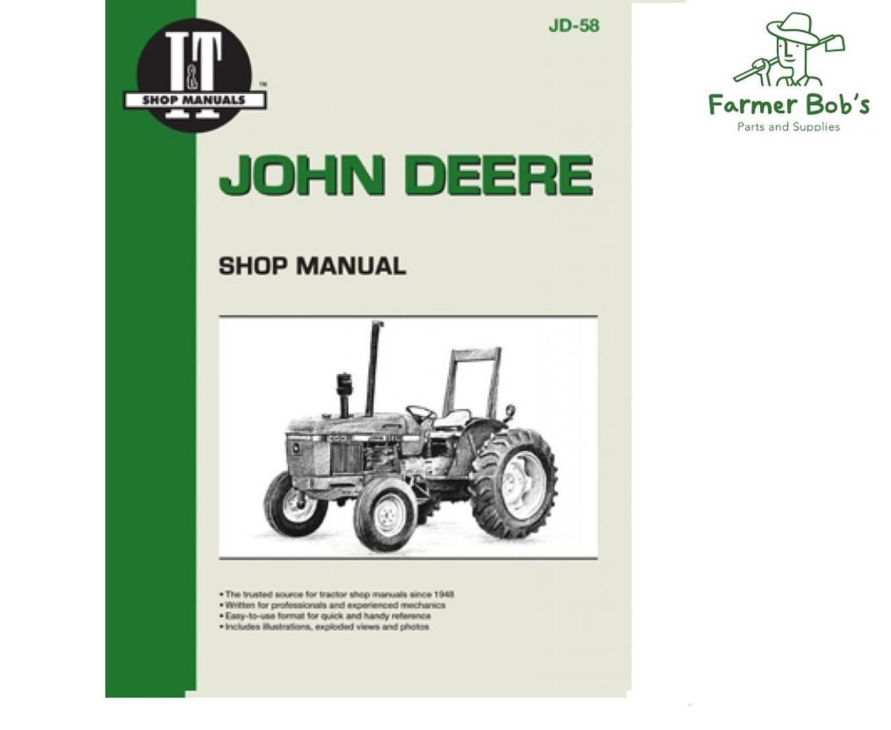 jd58 - i&t shop manuals john deere 2150, 2155, 2255, 2350, 2355, 2355n,  2550 and 2555 manual. - farmer bobs parts and supplies llc  farmer bobs parts