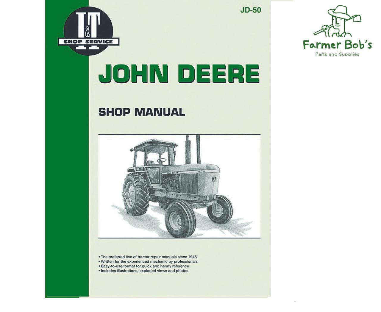 Jd50 It Shop Manuals John Deere 4030 4230 4430 And 4630 Manual