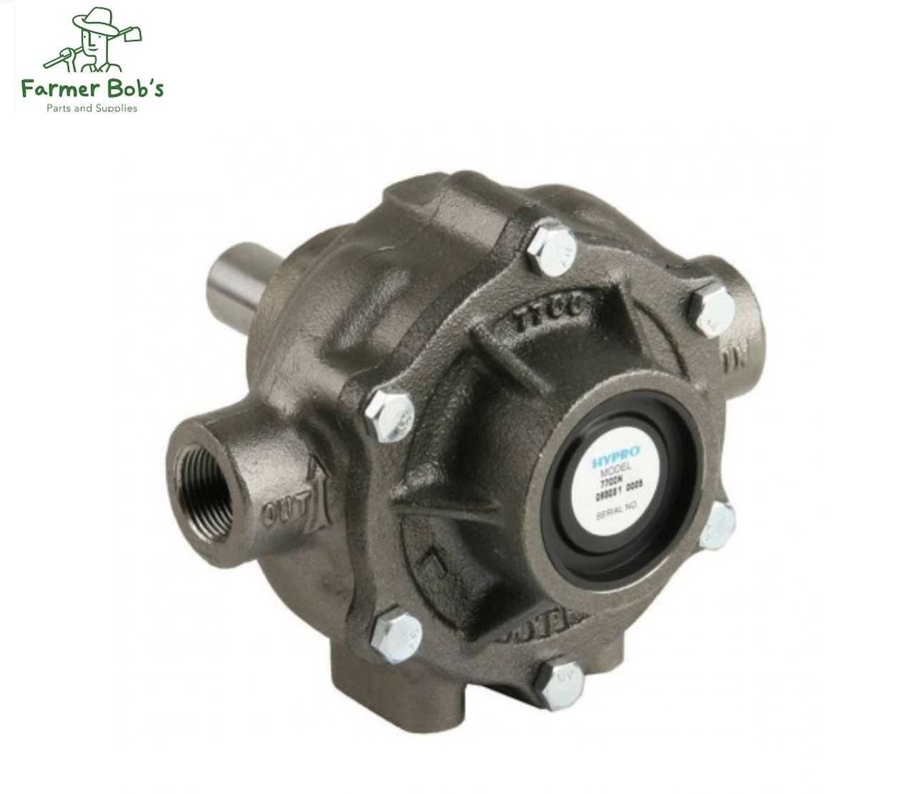 7 Roller Ni-Resist Cast Iron Pump, 15/16 Sold Shaft 14 2 - 22 gpm, Hypro