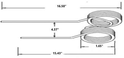 Tedder Tine fit Kuhn, GF22SP, GF23, GF4SP & more  Replaces