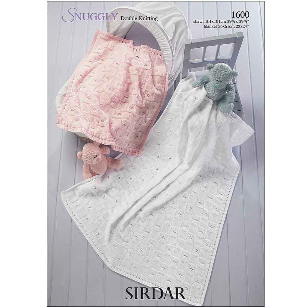 Blanket and Shawl Knitting Pattern | Sirdar Snuggly DK 1600 | Digital Download - Main Image