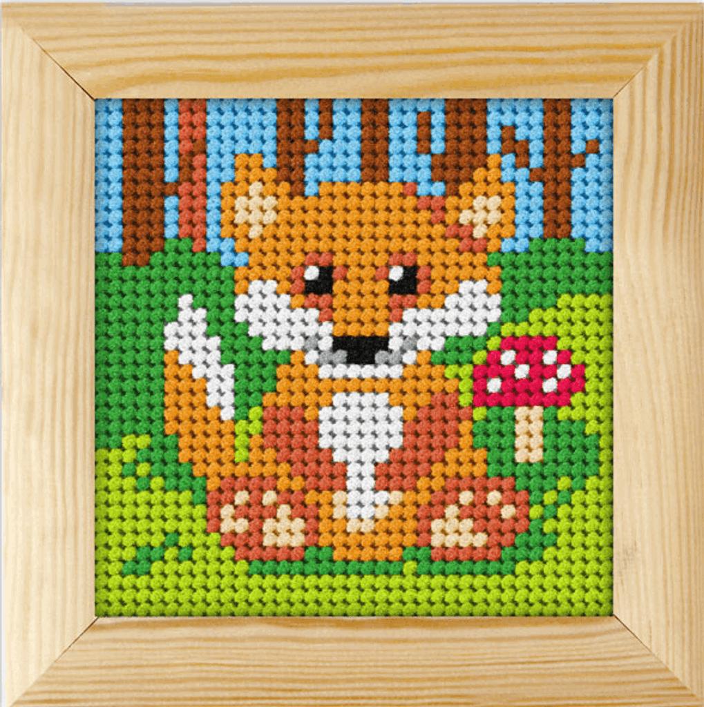 Fox   Framed Needlepoint Kit   11ct   Orchidea
