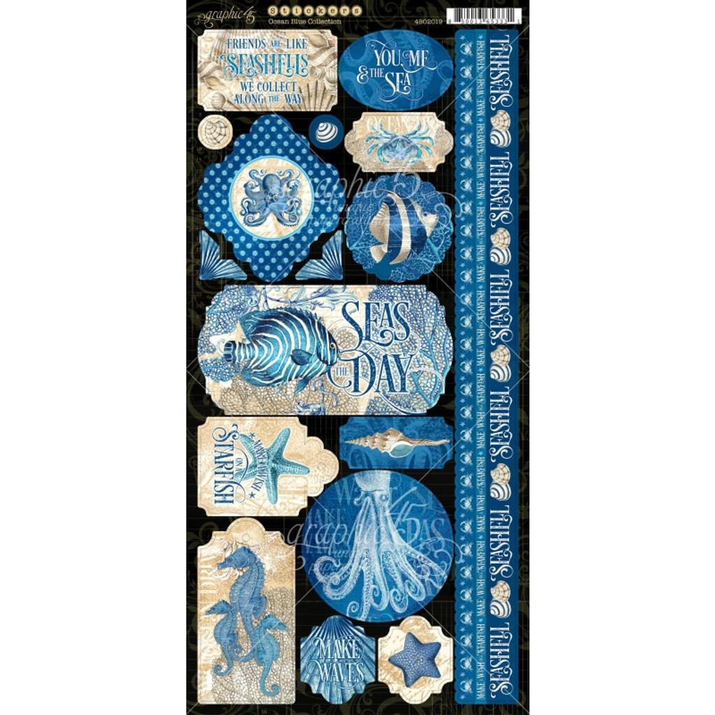 Stickers | Ocean Blue | Graphic 45 | Sheet A